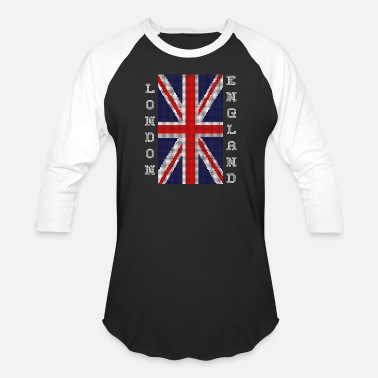 England London England Cross-Stitch - Unisex Baseball T-Shirt