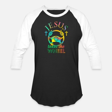 Wheel Jesus Takes the wheel! Christianity T-shirt - Unisex Baseball T-Shirt