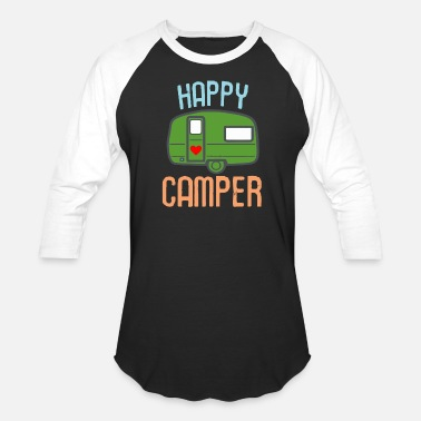 Camping Attire For Happy Camper Camping - Unisex Baseball T-Shirt