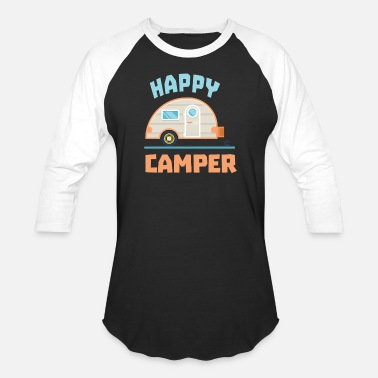 Happy Birthday Happy Camper Camping - Unisex Baseball T-Shirt