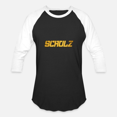 Schulz Schulz Surname Yellow Word - Baseball T-Shirt