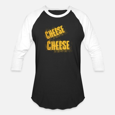 Cheese Food Cheese Cheese Food Word - Unisex Baseball T-Shirt