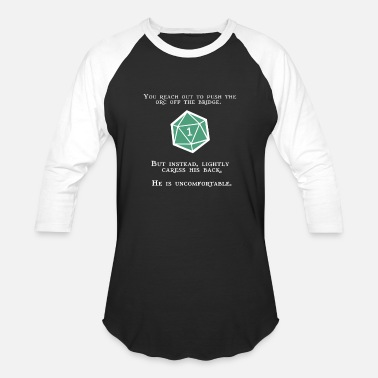 Dice Natural 1 - Orc - Unisex Baseball T-Shirt