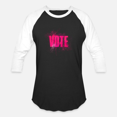 Word Art Vote Election Word Art - Baseball T-Shirt