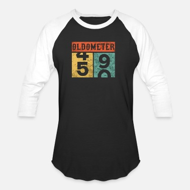 49 Years Old Quotes Oldometer 50th Birthday Counting Shirt - Baseball T-Shirt