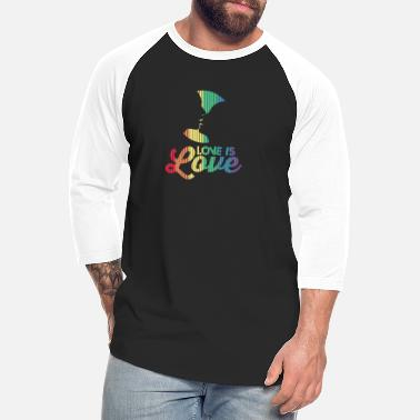 Couple Marriage Spiritual Love Is Love Rainbow Kissing Marriage Equality LGB - Unisex Baseball T-Shirt