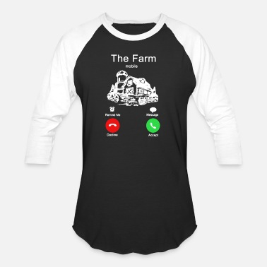 Farming The Farm Mobile Shirt - Unisex Baseball T-Shirt