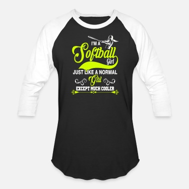 Female Softball - i'm a softball girl like normal girl - Unisex Baseball T-Shirt