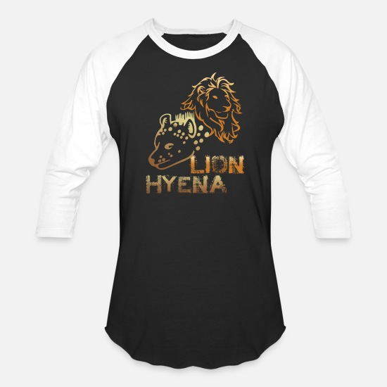 Leon T-Shirts - leon and hyena - Unisex Baseball T-Shirt black/white