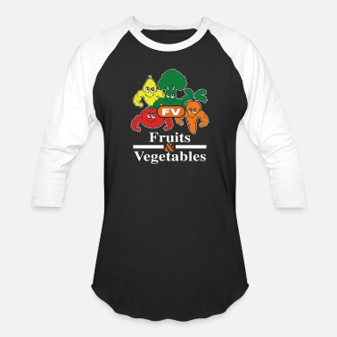 Fruit And Vegetable fruits vegetables - Baseball T-Shirt