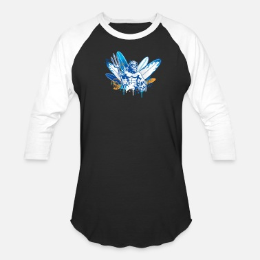 God of surf with a trident - Unisex Baseball T-Shirt