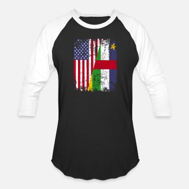 African American Flag CENTRAL AFRICAN REPUBLIC | American Flag - Unisex Baseball T-Shirt
