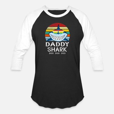 Retro Vintage Daddy Shark Tshirt gift for Father - Baseball T-Shirt