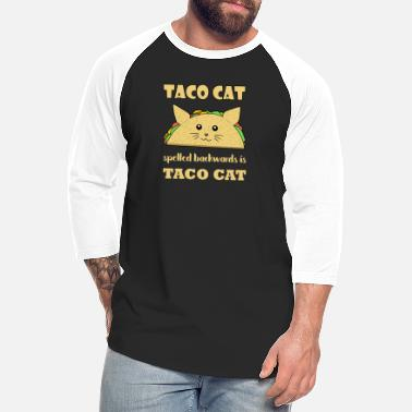Backwards Taco Cat Spelled Backwards Mexican Food Gift - Unisex Baseball T-Shirt