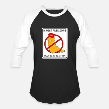 Magat Free Zone - Unisex Baseball T-Shirt