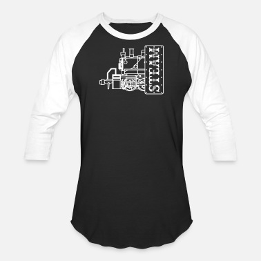 Steam Engine Steam Engine Locomotive - Unisex Baseball T-Shirt