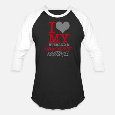 Newyorker Newyork Football - I Love My Husband & Newyork F - Baseball T-Shirt