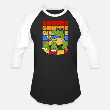 Fishing And Sex Retro Vintage Style Summer Turtle Cocktail Holiday - Baseball T-Shirt