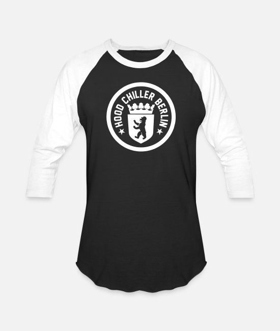City T-Shirts - Bear Classic Coat of Arms Hood Chiller Berlin - Unisex Baseball T-Shirt black/white