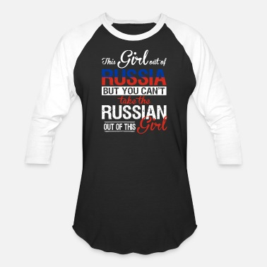 Russian Circles Russia - You can't take the russian out of her - Baseball T-Shirt