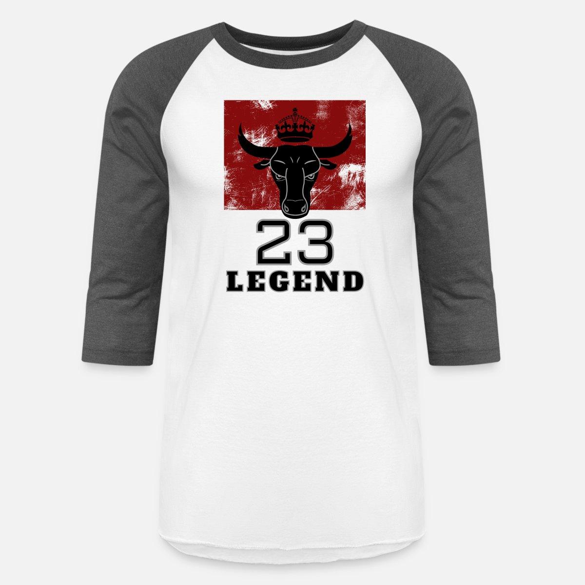 a7cc2ff4269e Legend 23 MJ Bulls Basketball Jersey and more Unisex Baseball T-Shirt