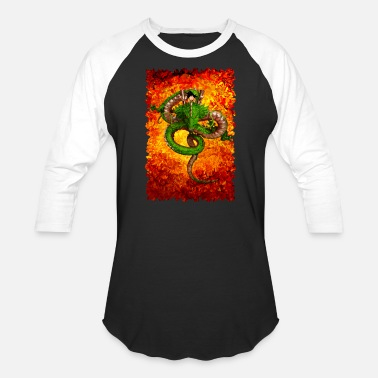 Shenlong Shen long Abstract art T-shirt - Baseball T-Shirt