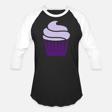 Two Colored cupcake two-colored - Unisex Baseball T-Shirt