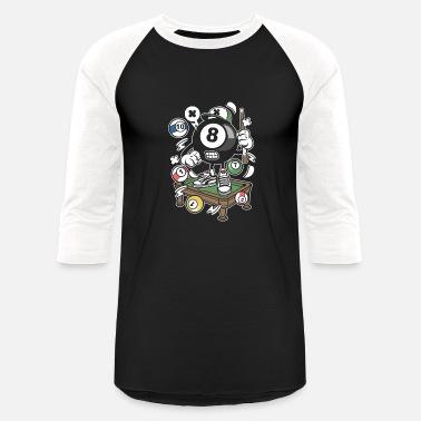 3c43c687ee Billiards Funny Billiard - Unisex Baseball T-Shirt
