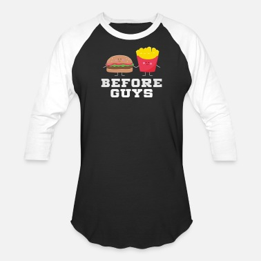 Junk Food Jokes Before guys Junk Food - Baseball T-Shirt