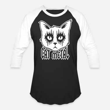Black Metal cat metal - Baseball T-Shirt