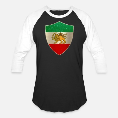 Persia Persia Flag Shield - Baseball T-Shirt