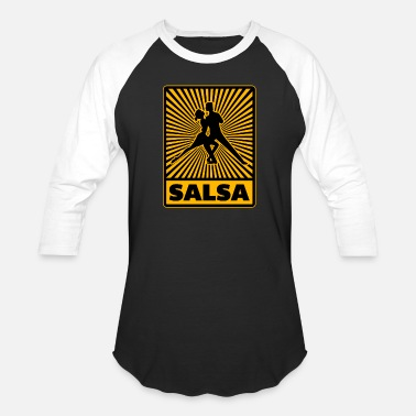 Salsa Club Salsa Dancing Pair Dance Move Yellow Cool Gift - Unisex Baseball T-Shirt