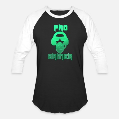 Pc Pro Gamer Gaming Headset Hipster - Unisex Baseball T-Shirt