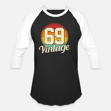 Birthday 50th Birthday - Vintage 1969 Gift - Unisex Baseball T-Shirt