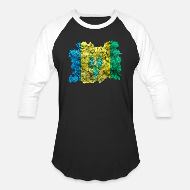Saint Vincent And The Grenadines Saint Vincent and the Grenadines Vintage Flag - Unisex Baseball T-Shirt