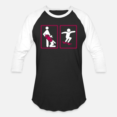 Bmx Skateboard - Baseball T-Shirt