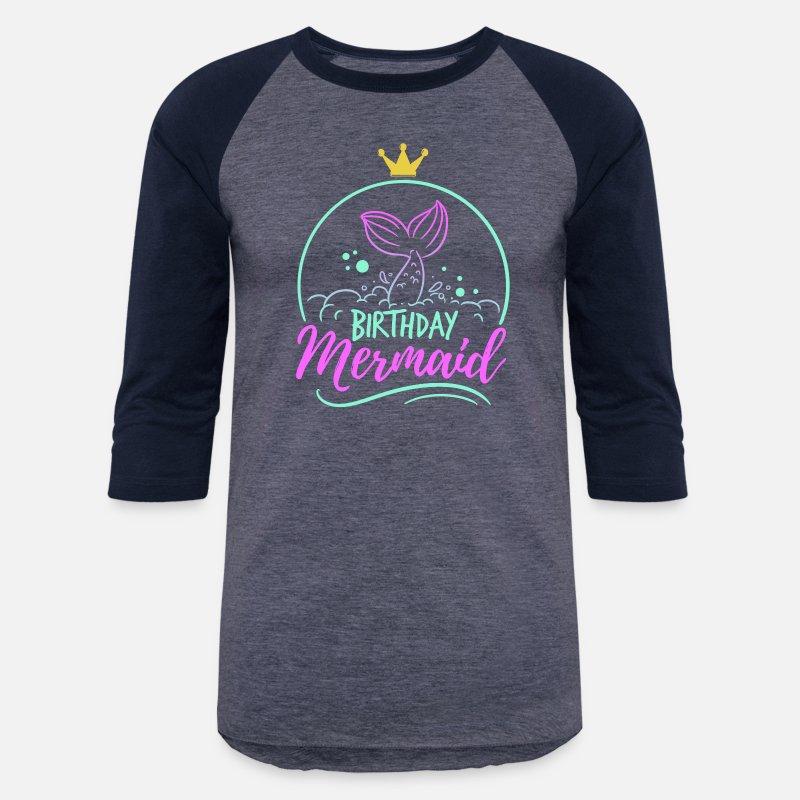 Unisex Baseball T ShirtBirthday Mermaid Mom Fable Mythical Gift