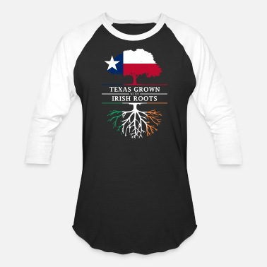 Irish Protestant Texan Grown with Irish Roots - Baseball T-Shirt