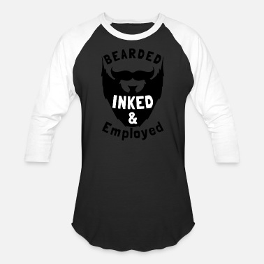 Latino Bearded Inked And Employed - Unisex Baseball T-Shirt