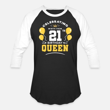 Mom 21th Birthday 21 Years twenty one Years - Baseball T-Shirt