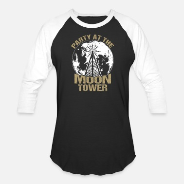 Tower Dazed and Confused - Party at the moon tower - Unisex Baseball T-Shirt