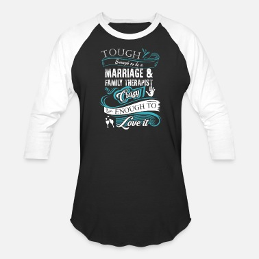 Marriage Marriage - Marriage - tough enough to be marriag - Baseball T-Shirt