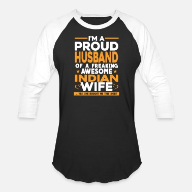 Funny Cleveland Indians Indian - I'm a Indian proud husband t-shirt - Baseball T-Shirt
