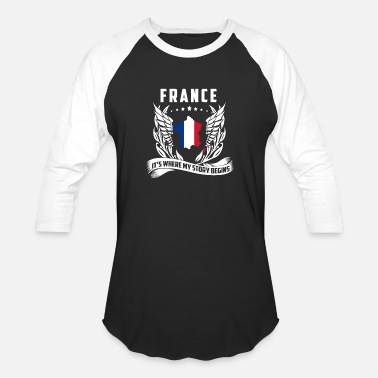 Victoria Frances France - France is where my story begins t-shirt - Baseball T-Shirt