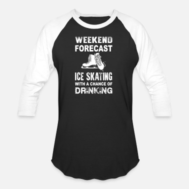 Porn Winter Weekend ice skating - With a chance of drinking - Baseball T-Shirt