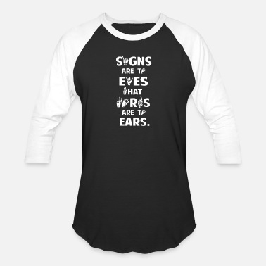 Hand Sign Sign Language American sign language - Signs are eyes - Baseball T-Shirt