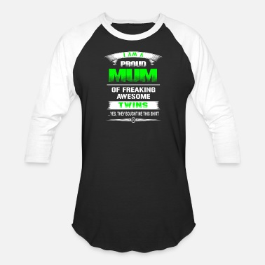 Wonder Twins Twins - Proud mum of awesome twins t-shirt - Baseball T-Shirt