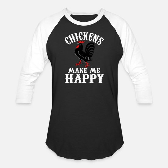 Chicken Coop T-Shirts - Chicken lover - Chickens make me happy - Unisex Baseball T-Shirt black/white