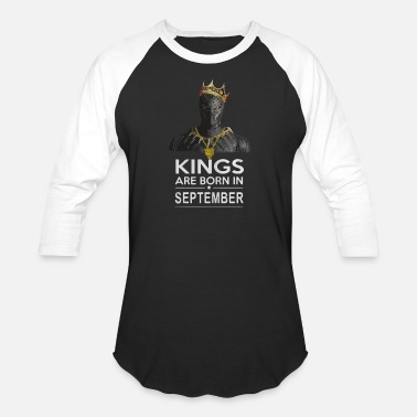 Black Panther Black Panther kings are born in September - Baseball T-Shirt