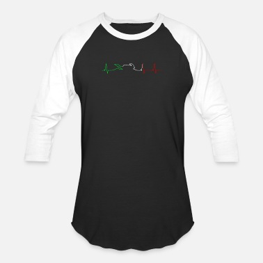 Heartbeat Motorcycle Heartbeat - Baseball T-Shirt
